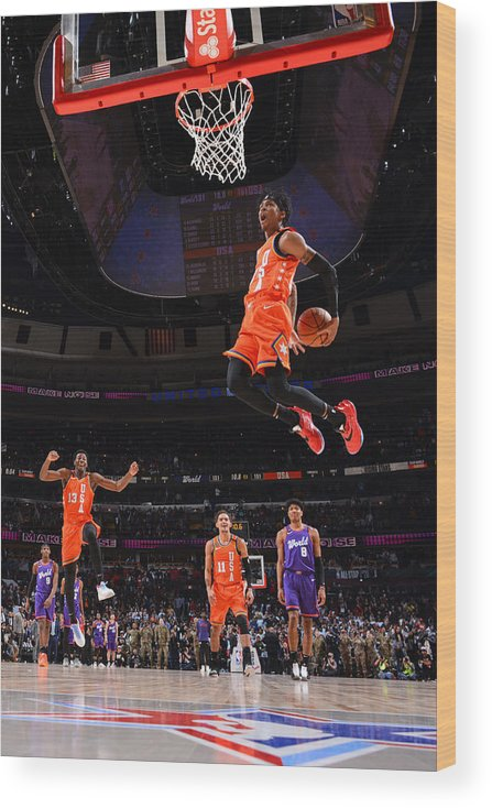 Nba Pro Basketball Wood Print featuring the photograph 2020 NBA All-Star - Rising Stars Game by Jesse D. Garrabrant
