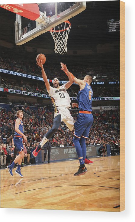 Smoothie King Center Wood Print featuring the photograph Anthony Davis by Layne Murdoch