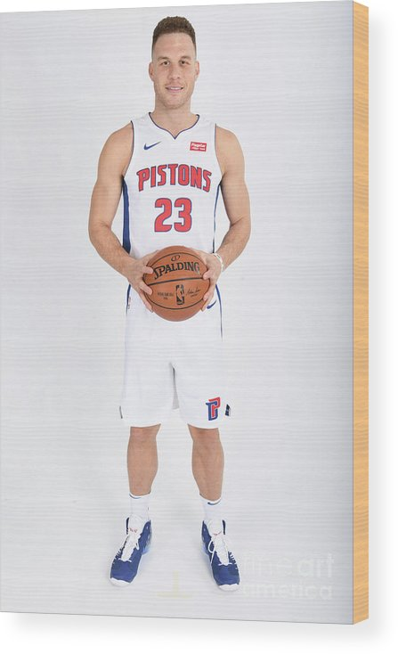 Nba Pro Basketball Wood Print featuring the photograph Blake Griffin by Chris Schwegler