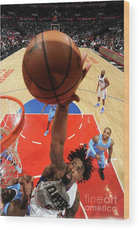 Nba Pro Basketball Wood Print featuring the photograph Deandre Jordan by Andrew D. Bernstein