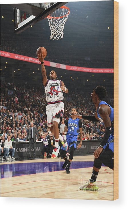 Nba Pro Basketball Wood Print featuring the photograph Kyle Lowry by Ron Turenne