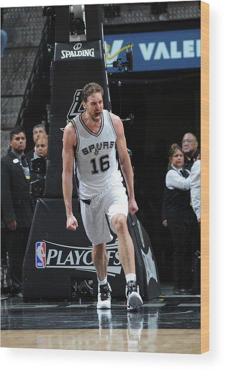Game Two Wood Print featuring the photograph Pau Gasol by Mark Sobhani
