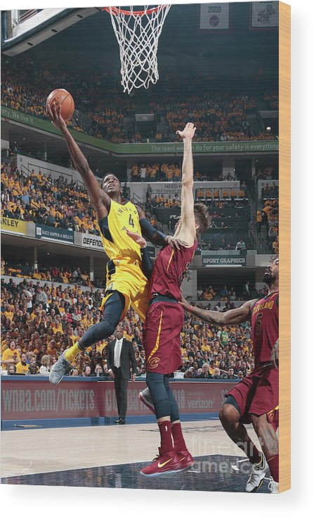 Playoffs Wood Print featuring the photograph Victor Oladipo by Ron Hoskins