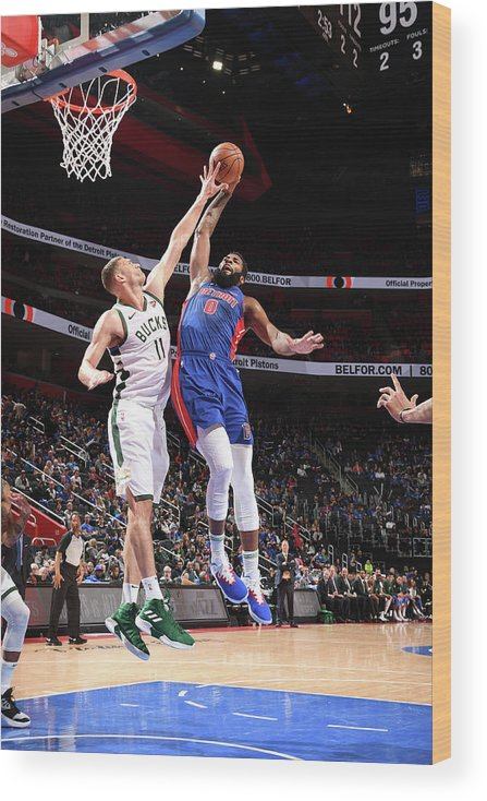 Playoffs Wood Print featuring the photograph Andre Drummond by Chris Schwegler