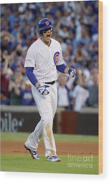 People Wood Print featuring the photograph Anthony Rizzo by Jonathan Daniel