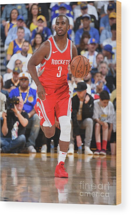 Nba Pro Basketball Wood Print featuring the photograph Chris Paul by Andrew D. Bernstein
