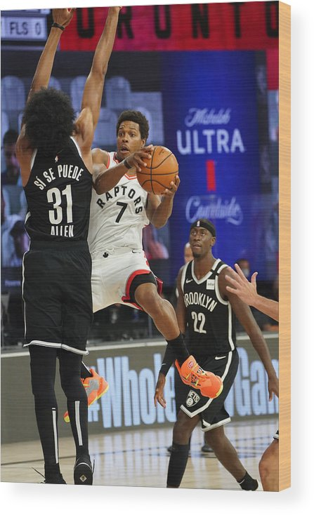 Playoffs Wood Print featuring the photograph Kyle Lowry by Jesse D. Garrabrant