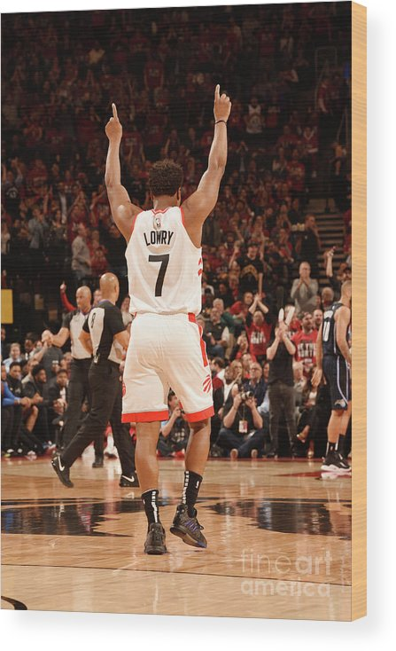 Playoffs Wood Print featuring the photograph Kyle Lowry by Ron Turenne