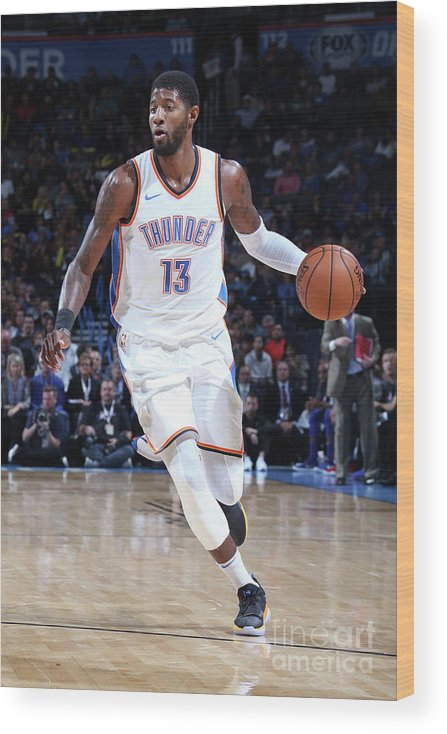 Nba Pro Basketball Wood Print featuring the photograph Paul George by Layne Murdoch