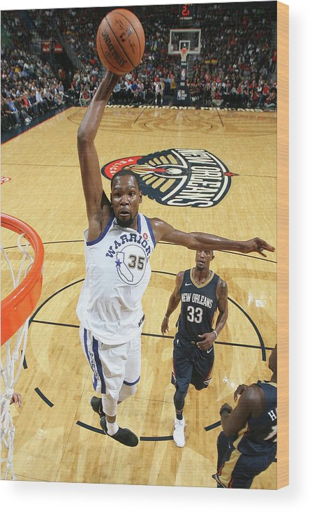 Smoothie King Center Wood Print featuring the photograph Kevin Durant by Layne Murdoch