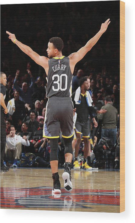 Nba Pro Basketball Wood Print featuring the photograph Stephen Curry by Nathaniel S. Butler
