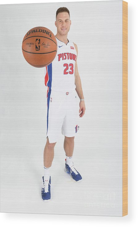 Nba Pro Basketball Wood Print featuring the photograph Blake Griffin by Chris Schwegler
