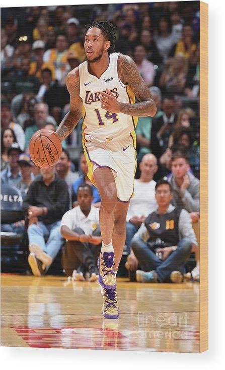 Nba Pro Basketball Wood Print featuring the photograph Brandon Ingram by Andrew D. Bernstein