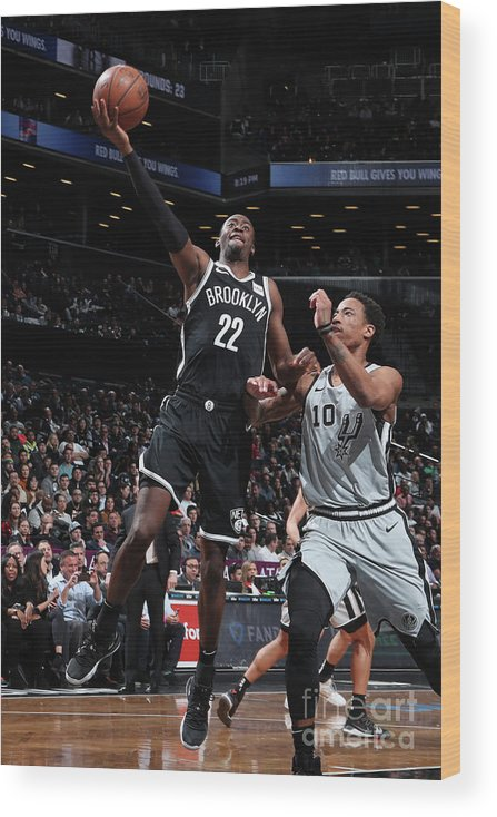 Nba Pro Basketball Wood Print featuring the photograph Caris Levert by Nathaniel S. Butler