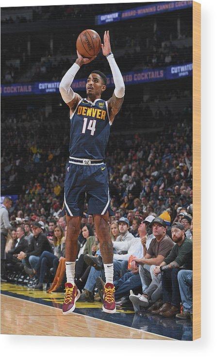 Nba Pro Basketball Wood Print featuring the photograph Gary Harris by Garrett Ellwood