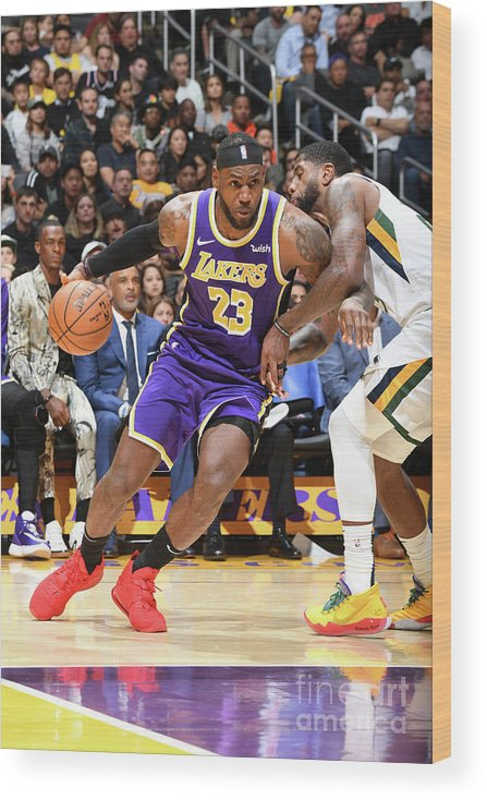 Nba Pro Basketball Wood Print featuring the photograph Lebron James by Andrew D. Bernstein