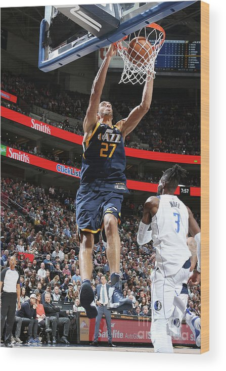 Nba Pro Basketball Wood Print featuring the photograph Rudy Gobert by Melissa Majchrzak