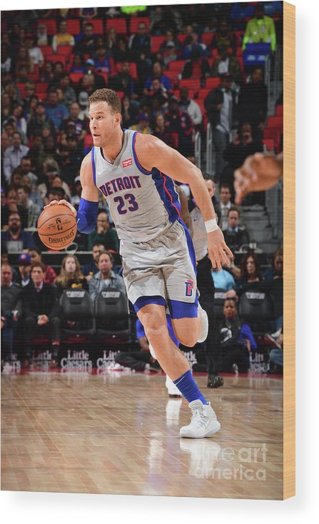 Sports Ball Wood Print featuring the photograph Blake Griffin by Chris Schwegler