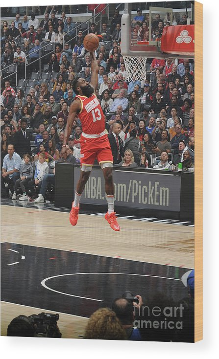 Nba Pro Basketball Wood Print featuring the photograph James Harden by Andrew D. Bernstein