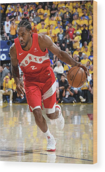 Playoffs Wood Print featuring the photograph Kawhi Leonard by Andrew D. Bernstein