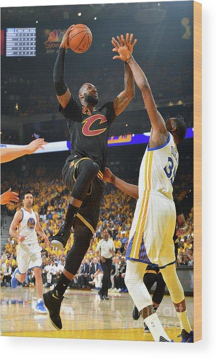 Playoffs Wood Print featuring the photograph Lebron James by Jesse D. Garrabrant