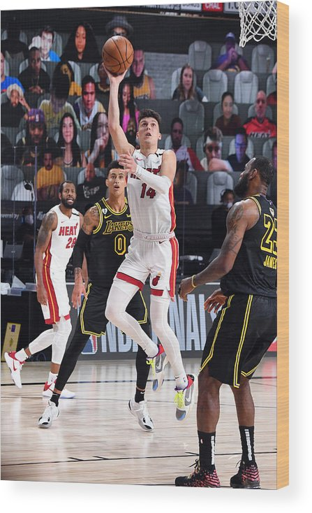 Playoffs Wood Print featuring the photograph 2020 NBA Finals - Miami Heat v Los Angeles Lakers by Andrew D. Bernstein