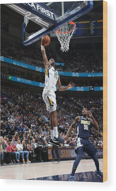 Nba Pro Basketball Wood Print featuring the photograph Alec Burks by Melissa Majchrzak