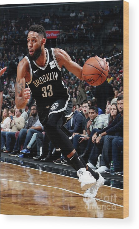 Nba Pro Basketball Wood Print featuring the photograph Allen Crabbe by Nathaniel S. Butler