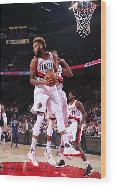 Nba Pro Basketball Wood Print featuring the photograph Allen Crabbe by Sam Forencich