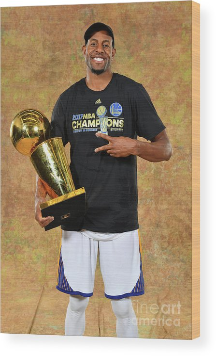 Playoffs Wood Print featuring the photograph Andre Iguodala by Jesse D. Garrabrant