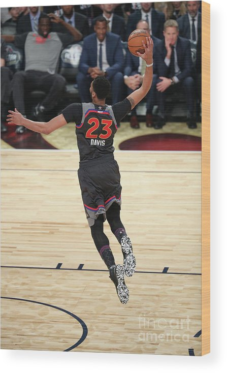 Smoothie King Center Wood Print featuring the photograph Anthony Davis by Joe Murphy