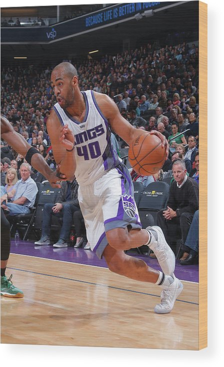 Nba Pro Basketball Wood Print featuring the photograph Arron Afflalo by Rocky Widner