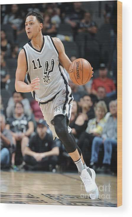 Nba Pro Basketball Wood Print featuring the photograph Bryn Forbes by Mark Sobhani