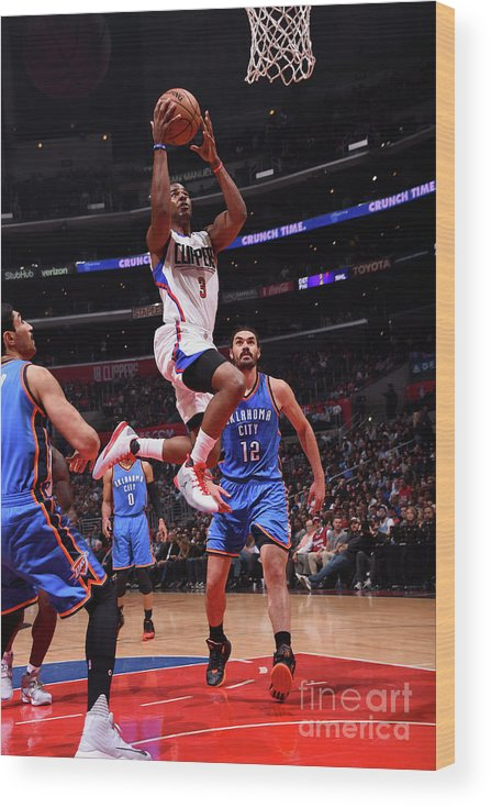 Nba Pro Basketball Wood Print featuring the photograph Chris Paul by Juan Ocampo