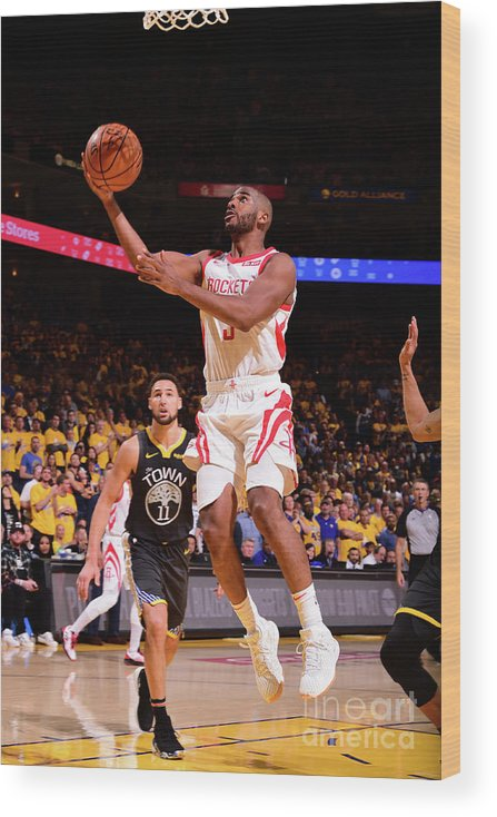 Playoffs Wood Print featuring the photograph Chris Paul by Noah Graham
