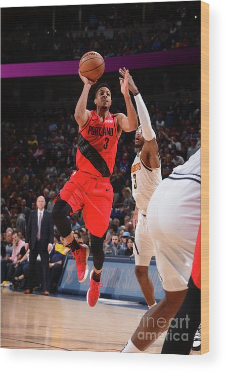 Playoffs Wood Print featuring the photograph C.j. Mccollum by Bart Young