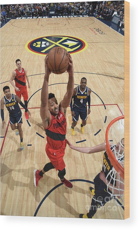 Playoffs Wood Print featuring the photograph C.j. Mccollum by Garrett Ellwood