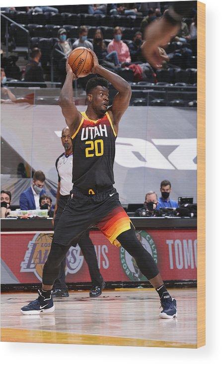 Nba Pro Basketball Wood Print featuring the photograph Dallas Mavericks v Utah Jazz by Melissa Majchrzak