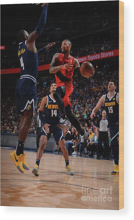 Playoffs Wood Print featuring the photograph Damian Lillard by Bart Young