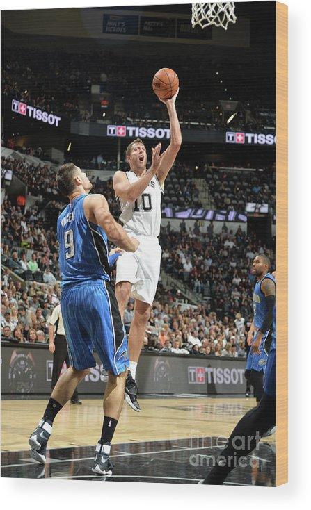 Nba Pro Basketball Wood Print featuring the photograph David Lee by Mark Sobhani