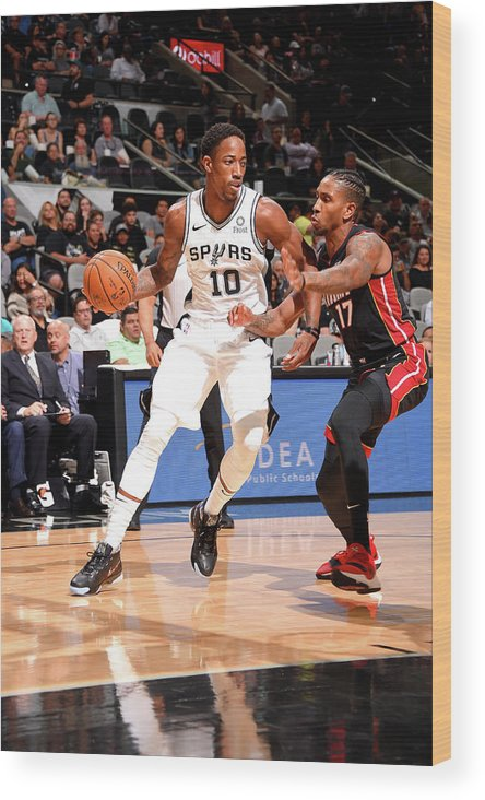Nba Pro Basketball Wood Print featuring the photograph Demar Derozan by Bill Baptist