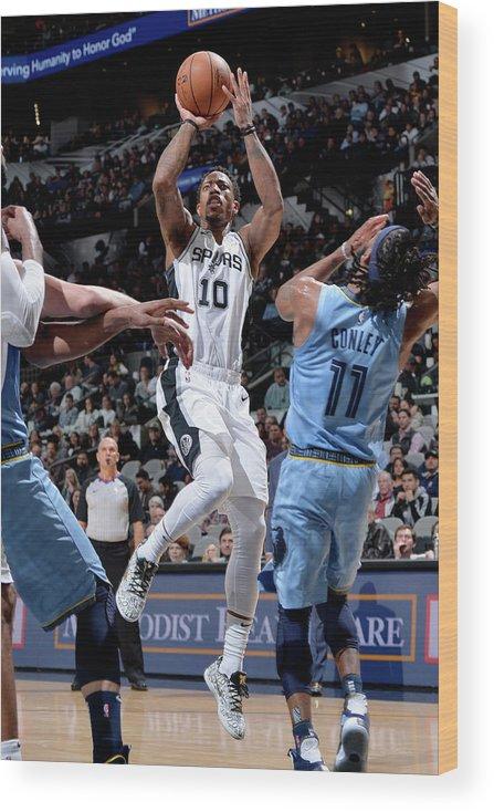 Nba Pro Basketball Wood Print featuring the photograph Demar Derozan by Mark Sobhani