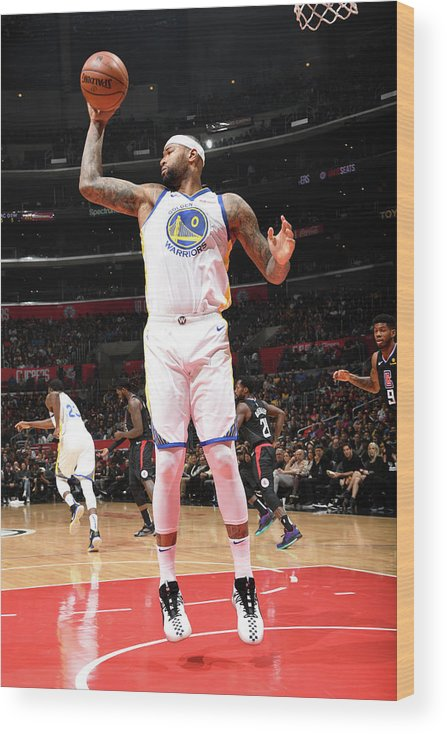 Nba Pro Basketball Wood Print featuring the photograph Demarcus Cousins by Andrew D. Bernstein