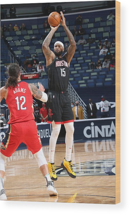Smoothie King Center Wood Print featuring the photograph Demarcus Cousins by Layne Murdoch Jr.