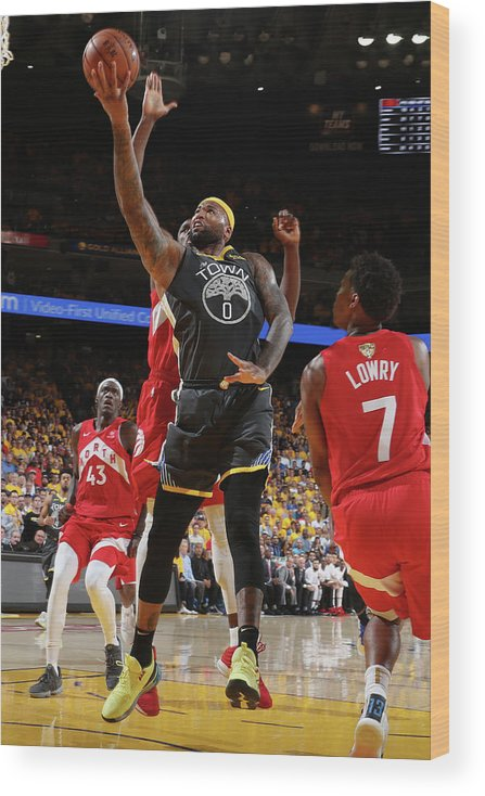 Playoffs Wood Print featuring the photograph Demarcus Cousins by Nathaniel S. Butler