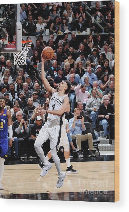 Playoffs Wood Print featuring the photograph Derrick White by Mark Sobhani