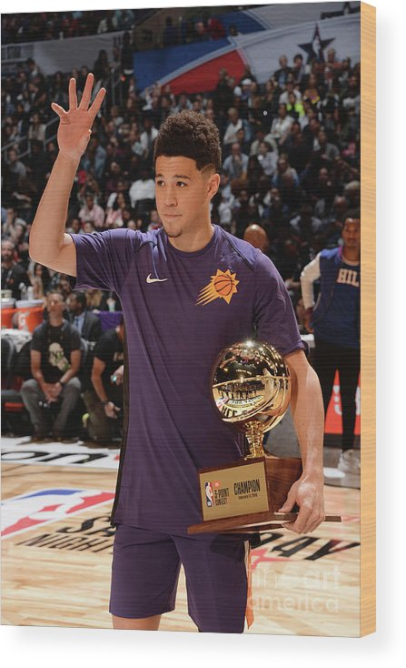 Event Wood Print featuring the photograph Devin Booker by Andrew D. Bernstein