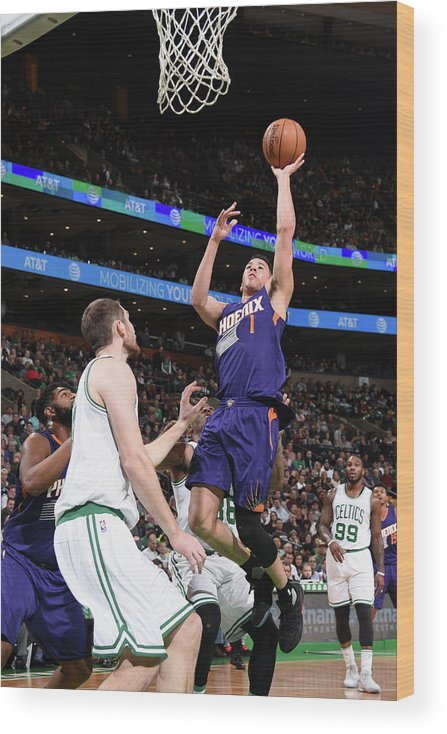 Nba Pro Basketball Wood Print featuring the photograph Devin Booker by Brian Babineau