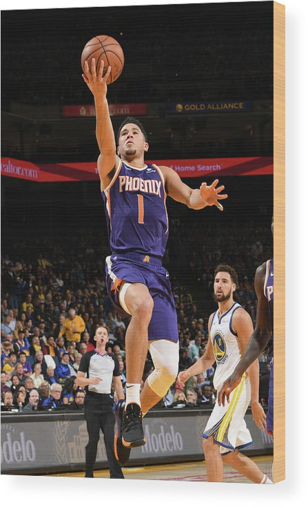 Nba Pro Basketball Wood Print featuring the photograph Devin Booker by Noah Graham