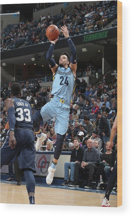 Sports Ball Wood Print featuring the photograph Dillon Brooks by Joe Murphy